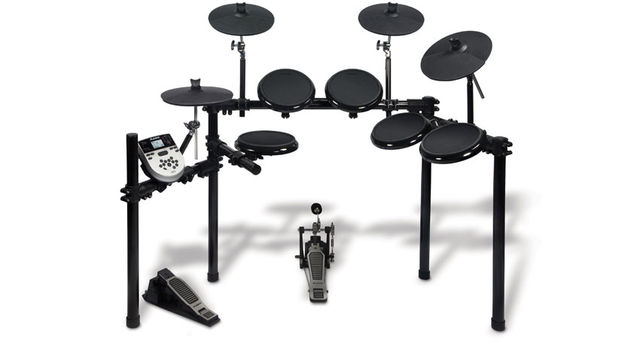 The DM7X Kit is pitched at electronic percussionists and professional drummers who want a kit for quiet practice