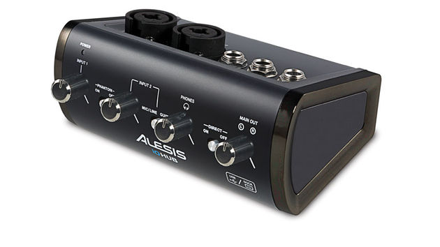 The Alesis iO Hub offers two XLR/jack combo inputs and phantom power (via battery)