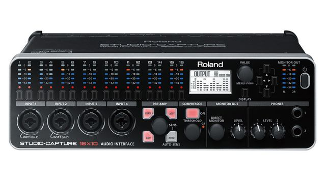 Roland Studio Capture: front panel metering ahoy.