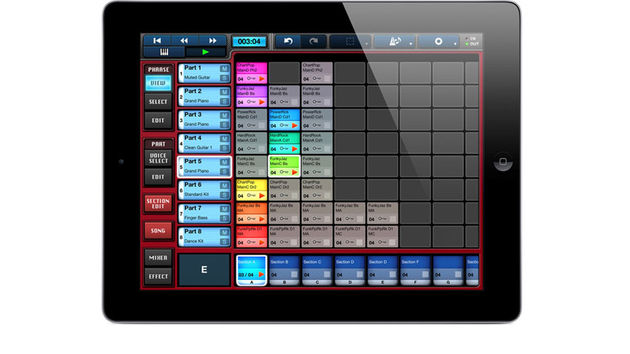 The Mobile Music Sequencer app enables composers to combine a range of phrase patterns to intuitively create new musical compositions, phrases and songs