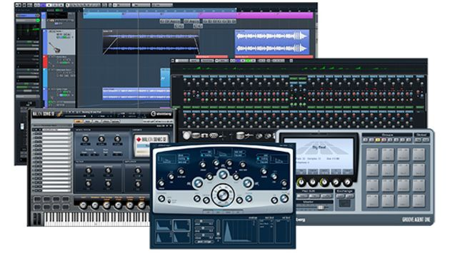 The various elements of Cubase Elements.