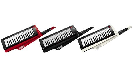 The Korg RK100S comes in a choice of three colours.