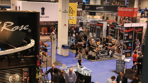 Insert obligatory shot of a NAMM Show hall here.
