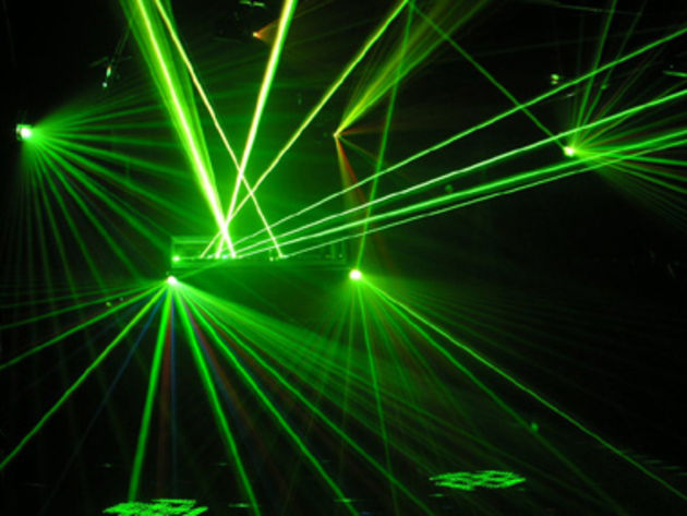 It seems that laser shows can be dangerous.