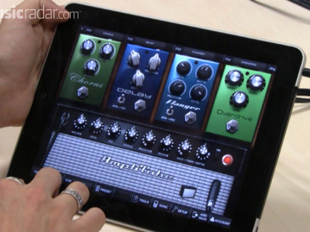 Will AmpliTube for iPad soon be a familiar sight on stages?