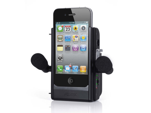 The Fostex AR-4i: an audio recording jacket for your iPhone 4. Click the image for more shots.