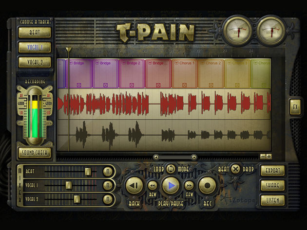 Beats can be made in the T-Pain Engine. Click the image to see screenshots of the other included software.