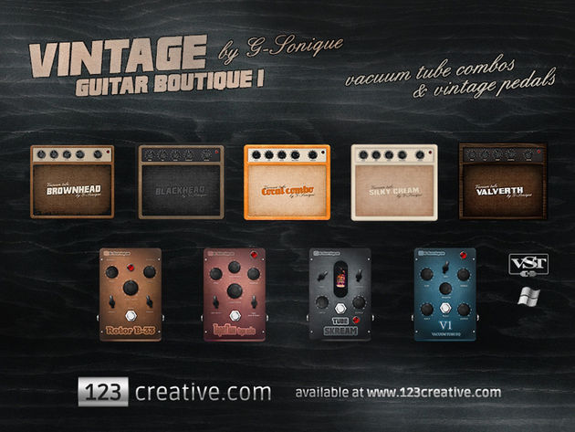 123.com G-Sonique Vintage Guitar Boutique 1