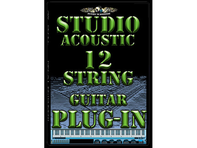 The Audio Warrior 12-string can be strummed manually of automatically.