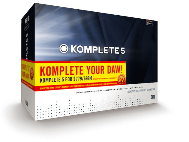 Komplete 5 contains 11 bits of software.