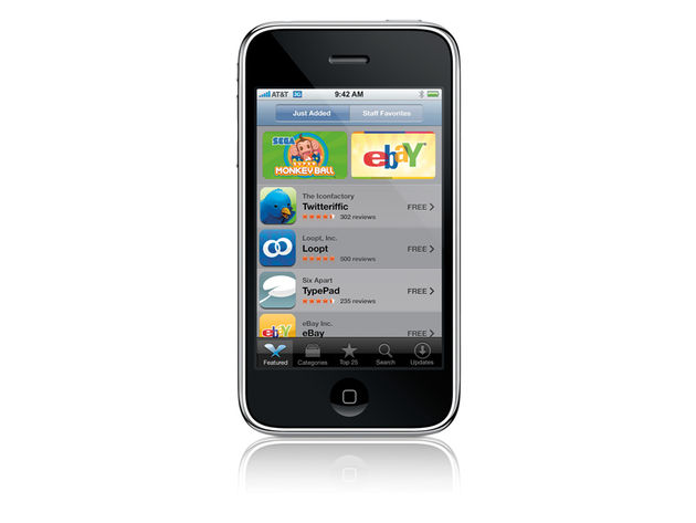 The App Store's launch coincides with that of the iPhone 3G
