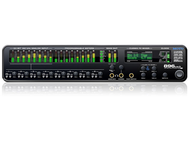 The MOTU 896mk3 can even be used as a standalone digital mixer.