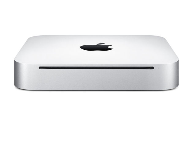 The new Mac mini is 7.7 inches square and 1.4 inches thin.