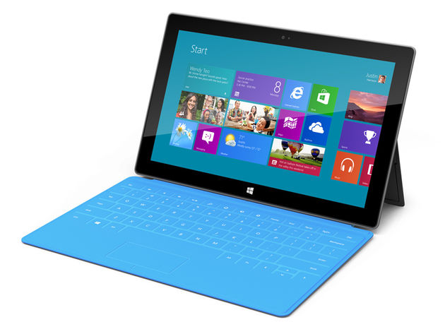Microsoft Surface with its cover/keyboard. Click the image for more photos.