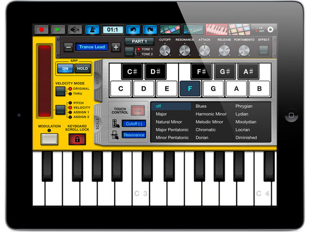 Yamaha Synth Arp & Drum Pad: click the image for more screenshots.