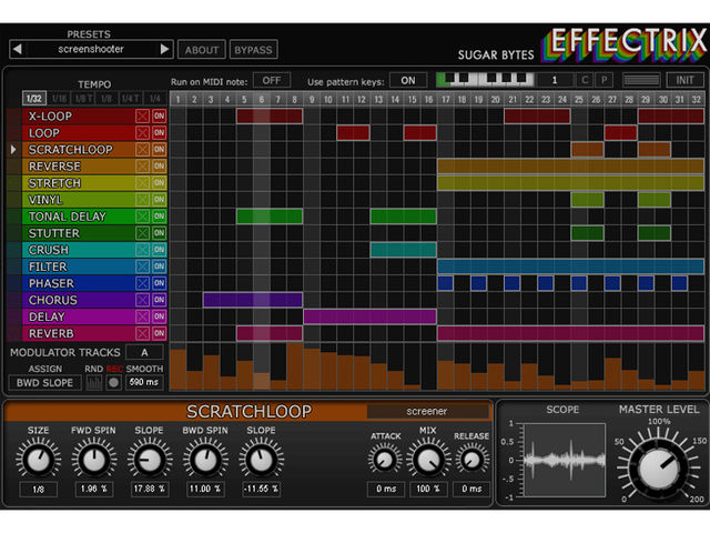 Effectrix looks to be bursting with processing possibilities.