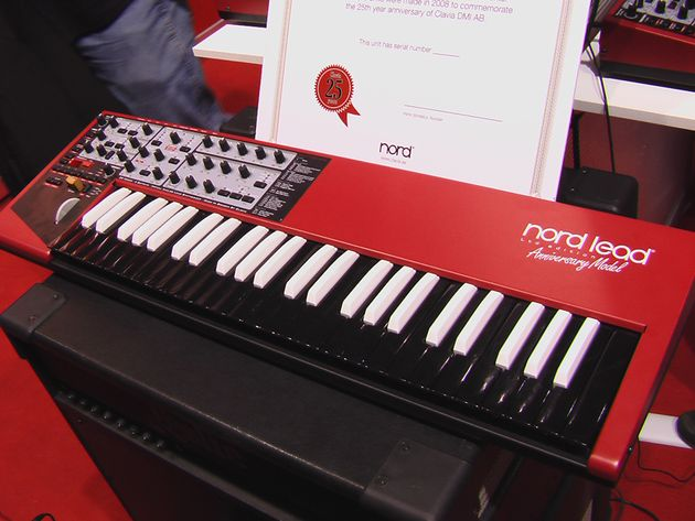 The Anniversary Model has the guts of the Nord Lead 2x but a design all of its own.