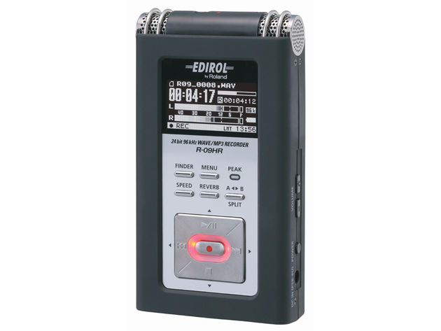 The R-09HR is the latest addition to Edirol's range of portable recorders.
