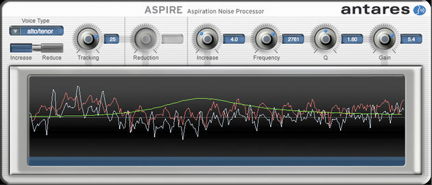 Adjust a vocal's breathiness with Aspire.