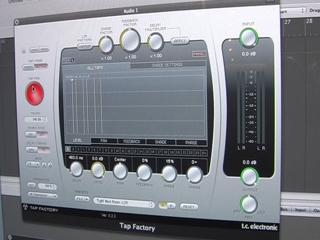 TC's new Tap Factory delay in action at Frankfurt Musikmesse 08