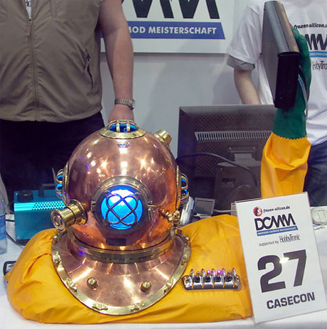 Diving helmet pc