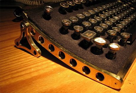 Steampunk workshop keyboard
