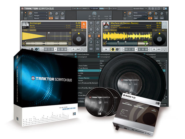 The Traktor Duo software is the centrepiece of the Traktor Scratch Duo bundle.
