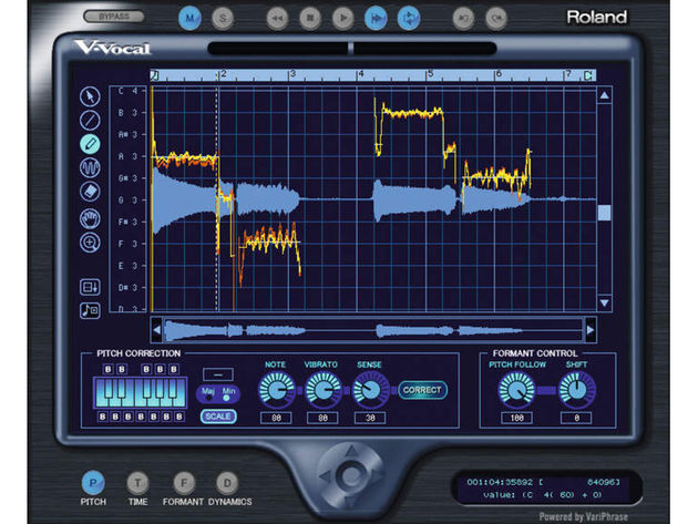Sonar's V-Vocal is powered by Roland VariPhrase technology.