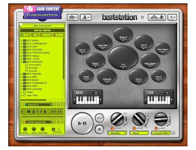 Beatstation supports a variety of audio formats.