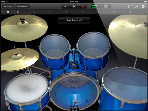 GarageBand for iPad - touch instruments: drums