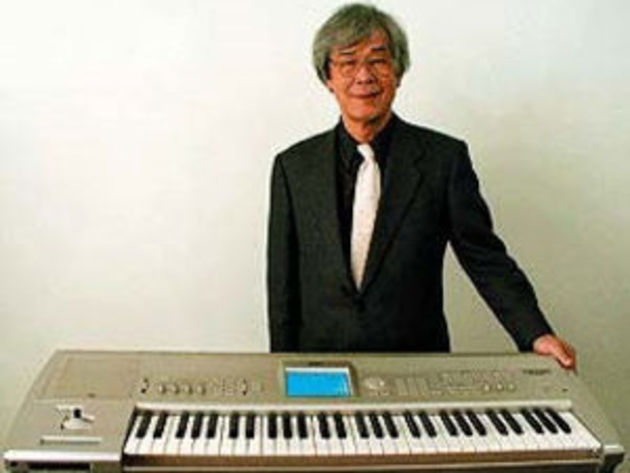 Tsutomu Katoh with one of Korg's many creations.