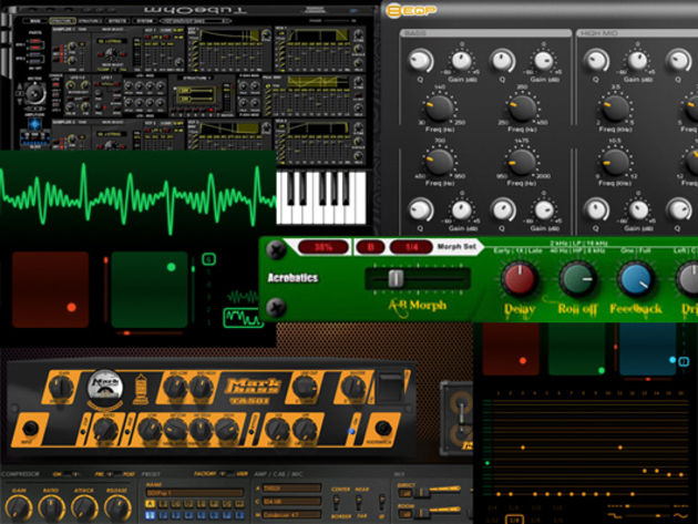 Synths, bass amps, delays, EQ and more