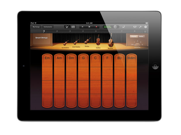 GarageBand for iOS: now with Smart Strings.
