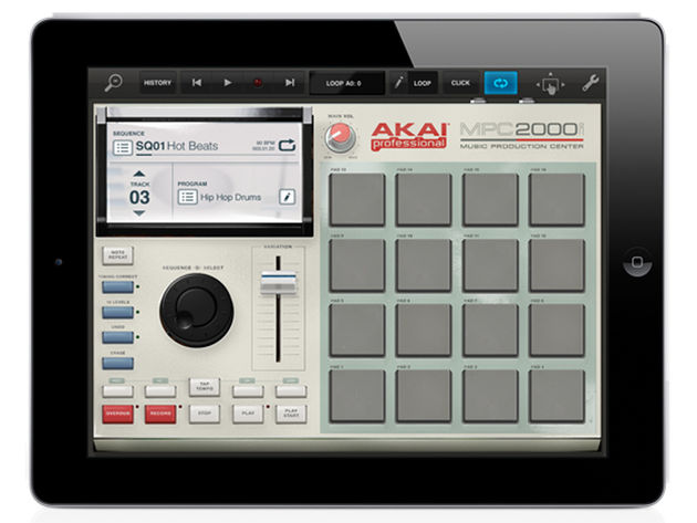 Akai's MPC Fly will work just like any other Tabletop device.