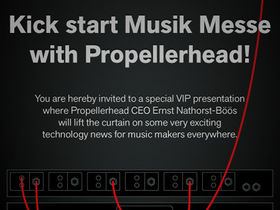 "Musikmesse 2012: Propellerhead to share ""exciting news"""