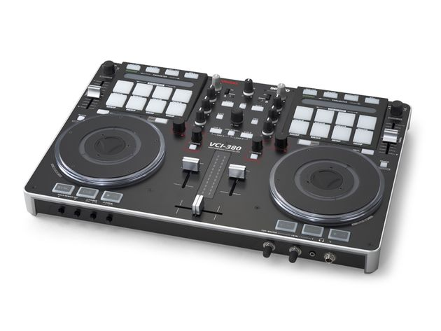 The Vestax VCI-380: click the image for a photo gallery.