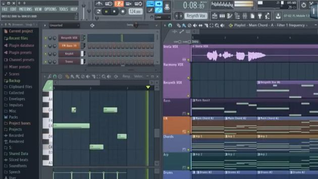 A sneak peek at FL Studio's vectorial interface.