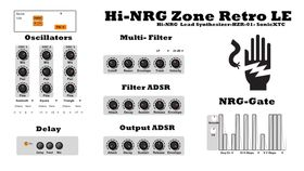 SonicXTC Hi-NRG Zone Retro LE free VST plugin synth released
