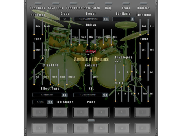 You can bolster the Ambient Drums sample library with additional soundpacks.