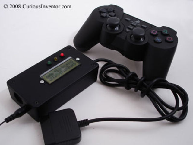 The Midiator sits between your PS2 controller and your computer/MIDI hardware.