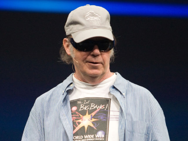 Neil Young at the 2008 JavaOne conference.