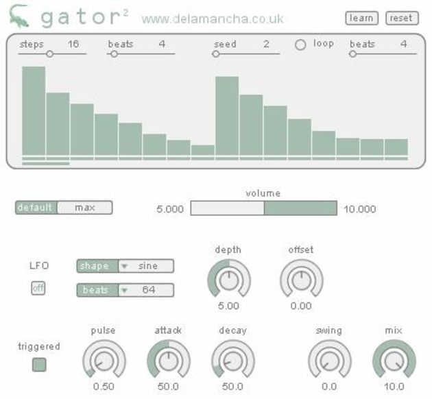 gator comes with its own step sequencer