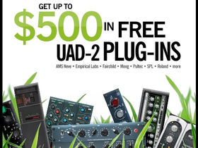 Save up to $500 on plug-ins when you buy a UAD-2