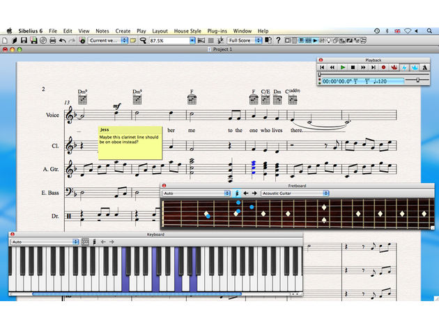 Sibelius 6 promises speedy score creation.