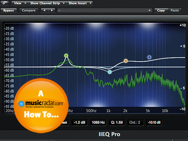 EQ is a great tool for shaping your kick and snare sounds.