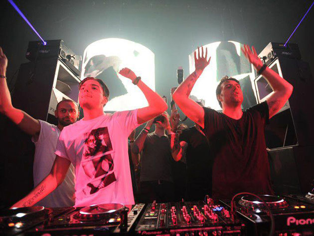 Alesso (left) and Sebastian Ingrosso could soon be playing in your house, so do make sure you tidy up.