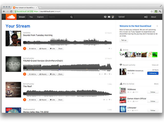 Musicians' favourite SoundCloud is currently being updated.