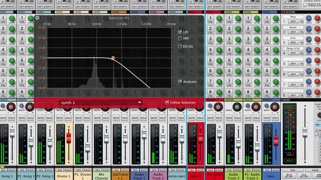 The new analyser/EQ and tweaked mixer are brilliantly implemented.