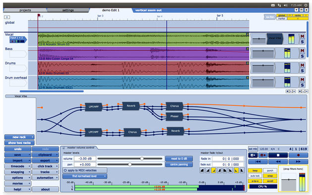 Tracktion 4 is now compatible with another operating system.