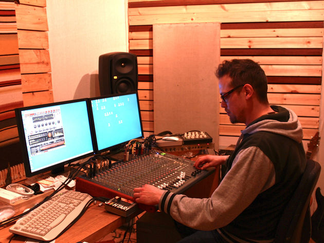 Tom in the studio